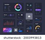 ui elements for dashboard...   Shutterstock .eps vector #2003993813