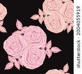 seamless pattern floral... | Shutterstock .eps vector #2004055919