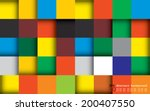 abstract colourful square