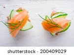 Small Sandwiches With Salmon...