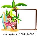 summer beach theme with blank...   Shutterstock .eps vector #2004116003