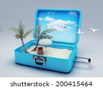 travel suitcase. beach vacation ... | Shutterstock . vector #200415464