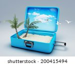 travel suitcase. beach vacation | Shutterstock . vector #200415494