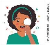 children vision checkup in... | Shutterstock .eps vector #2004216839