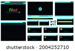 neon colored web browser window ...