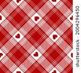 heart tartan check plaid...   Shutterstock .eps vector #2004296450