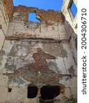 Old And Ruined Building In The...