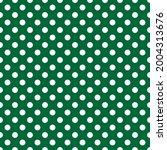 White And Green Polka Dot...