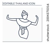 classical dance line icon.... | Shutterstock .eps vector #2004370316