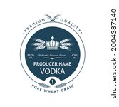 template vodka label with royal ... | Shutterstock .eps vector #2004387140