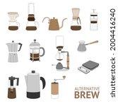 alternative coffee brewing... | Shutterstock .eps vector #2004416240