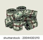 vintage colorful money concept... | Shutterstock .eps vector #2004430193