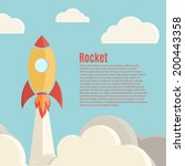 rocket launch background.... | Shutterstock .eps vector #200443358