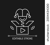 prank videos white linear icon...   Shutterstock .eps vector #2004434300