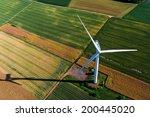 wind turbine on a field  aerial ... | Shutterstock . vector #200445020