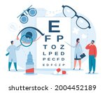 ophthalmology. ophthalmologist... | Shutterstock .eps vector #2004452189