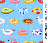 Swimming Ring Seamless Pattern. ...