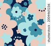 seamless pattern floral flower... | Shutterstock .eps vector #2004465236
