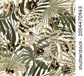 trendy seamless safari pattern...   Shutterstock .eps vector #2004470963