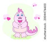 pink dinosaur. cute pink girl...