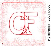 c and f letters monogram in an... | Shutterstock . vector #200447900