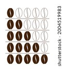 coffee bean icon. levels...   Shutterstock .eps vector #2004519983