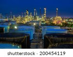 landscape of oil refinery... | Shutterstock . vector #200454119