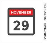 november 29 calendar icon with...   Shutterstock .eps vector #2004543443