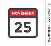 november 25 calendar icon with...   Shutterstock .eps vector #2004543446
