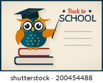Back To School. Vector Card...