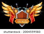 victory game icon  vector...