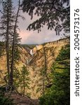 Sunrise  Yellowstone Falls ...