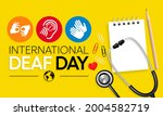 world deaf day is observed... | Shutterstock .eps vector #2004582719