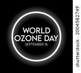 world ozone day is observed... | Shutterstock .eps vector #2004582749