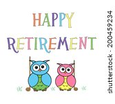 little owls   retirement | Shutterstock . vector #200459234