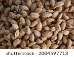 Almond In Shell Background....
