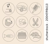 set of minimalistic linear... | Shutterstock .eps vector #2004598613