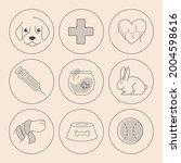 set of minimalistic linear... | Shutterstock .eps vector #2004598616