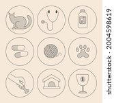 set of minimalistic linear... | Shutterstock .eps vector #2004598619