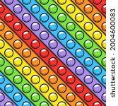 seamless pattern of trendy pop... | Shutterstock .eps vector #2004600083