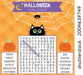 halloween word search puzzle....   Shutterstock .eps vector #2004639749