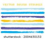 trendy ink brush strokes...   Shutterstock .eps vector #2004650153