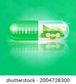 cucumber capsule vitamin green...   Shutterstock .eps vector #2004728300