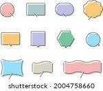 speech balloon design colorful...   Shutterstock .eps vector #2004758660