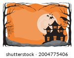 happy halloween. a tense night... | Shutterstock .eps vector #2004775406