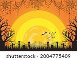 happy halloween. a tense night... | Shutterstock .eps vector #2004775409