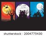 happy halloween. a tense night... | Shutterstock .eps vector #2004775430