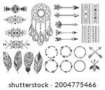 set of tribal design element   Shutterstock .eps vector #2004775466