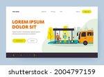 children waiting for school bus....   Shutterstock .eps vector #2004797159