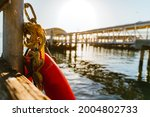 Lifebuoy On The Waterfront In...